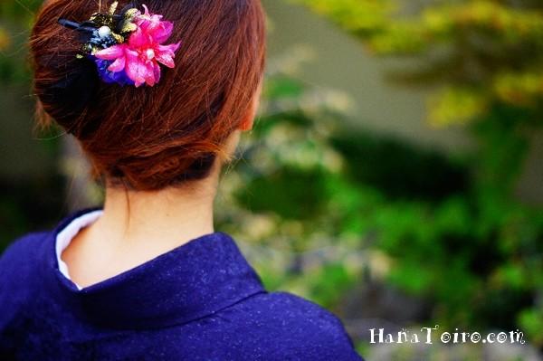 浴衣の髪型と洋服のアップヘア